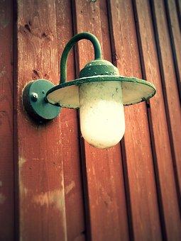 lamp wooden wall lantern light