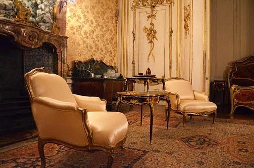 Castle Sanssouci Baroque Chair Living Room