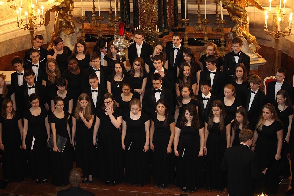 Choeur, Chorale De L'Église, Chanter, Schönbrunn