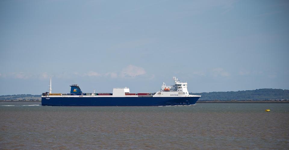 船, 容器, フェリー, 水, 河口, テムズ川, オランダRoro船, 貨物, 商人, 海洋, イギリス