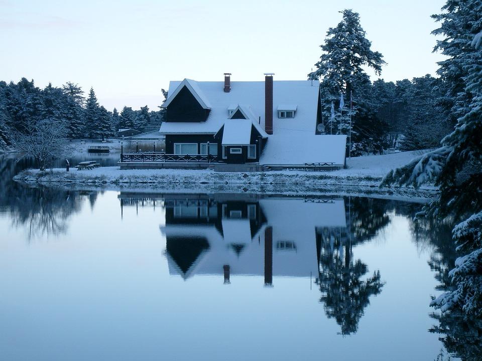 Kabin Kar Kış Pixabayde ücretsiz Fotoğraf