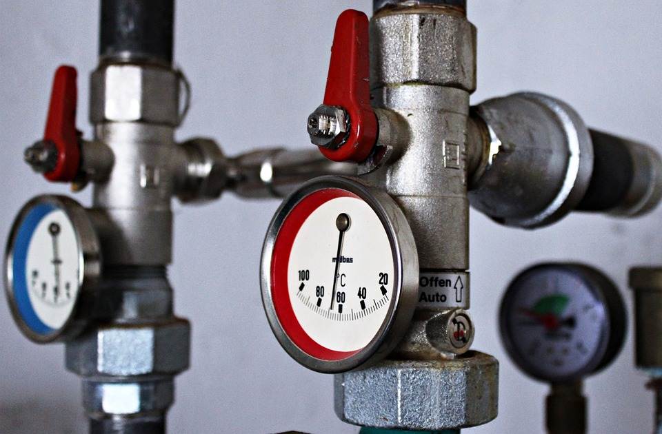 Heizung, Thermostat, Temparaturanzeige, Uhr