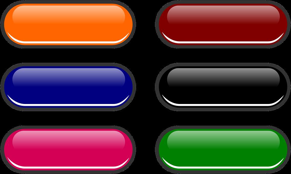 Vector Gratis: Botones Web, Botón, Brillante