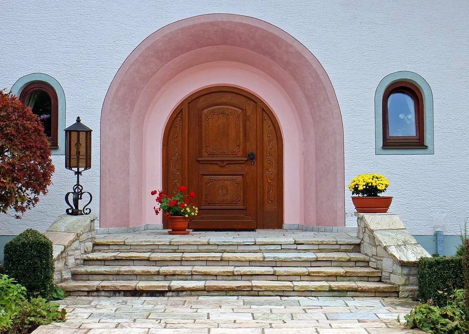 Exceptional Round Arch, Front Door, Entrance Door, Wood, Door, Home