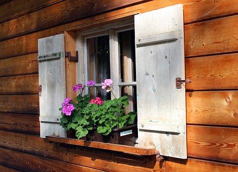 Fensterläden, Fenster, Holzfenster