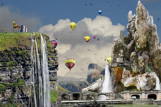 Free Illustration Surreal Composition Dream Castle