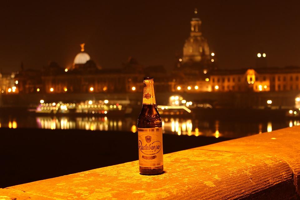 Radeberger Bier, Dresden, Nachts, Radeberger, Nacht