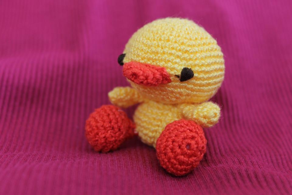 Ente Spielzeug Häkeln Kostenloses Foto Auf Pixabay