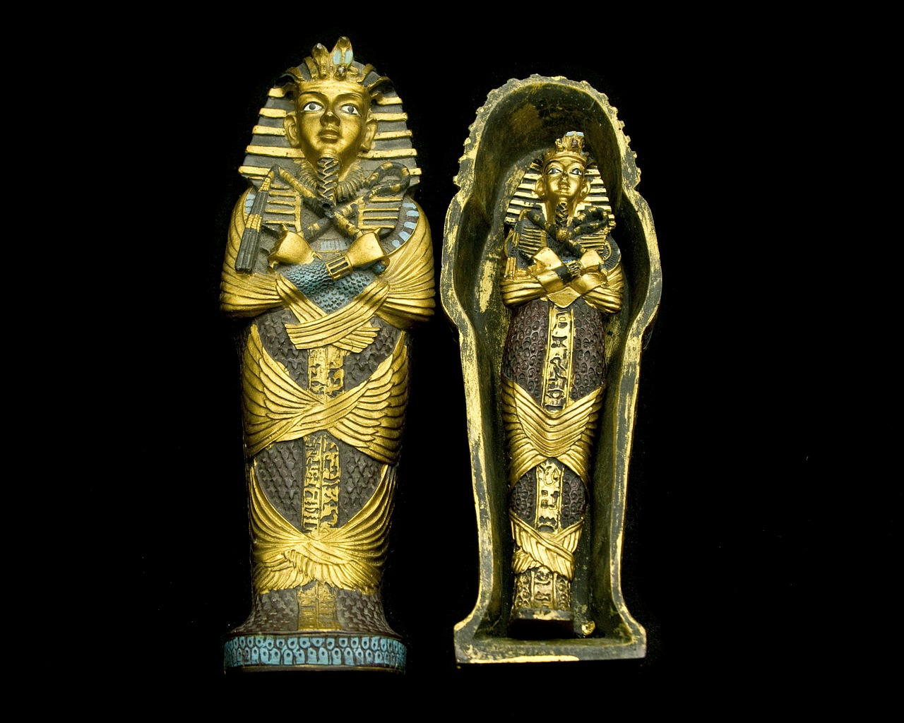 Tomb robbers believed that knocking Egyptian sarcophagi's noses off would forestall curses