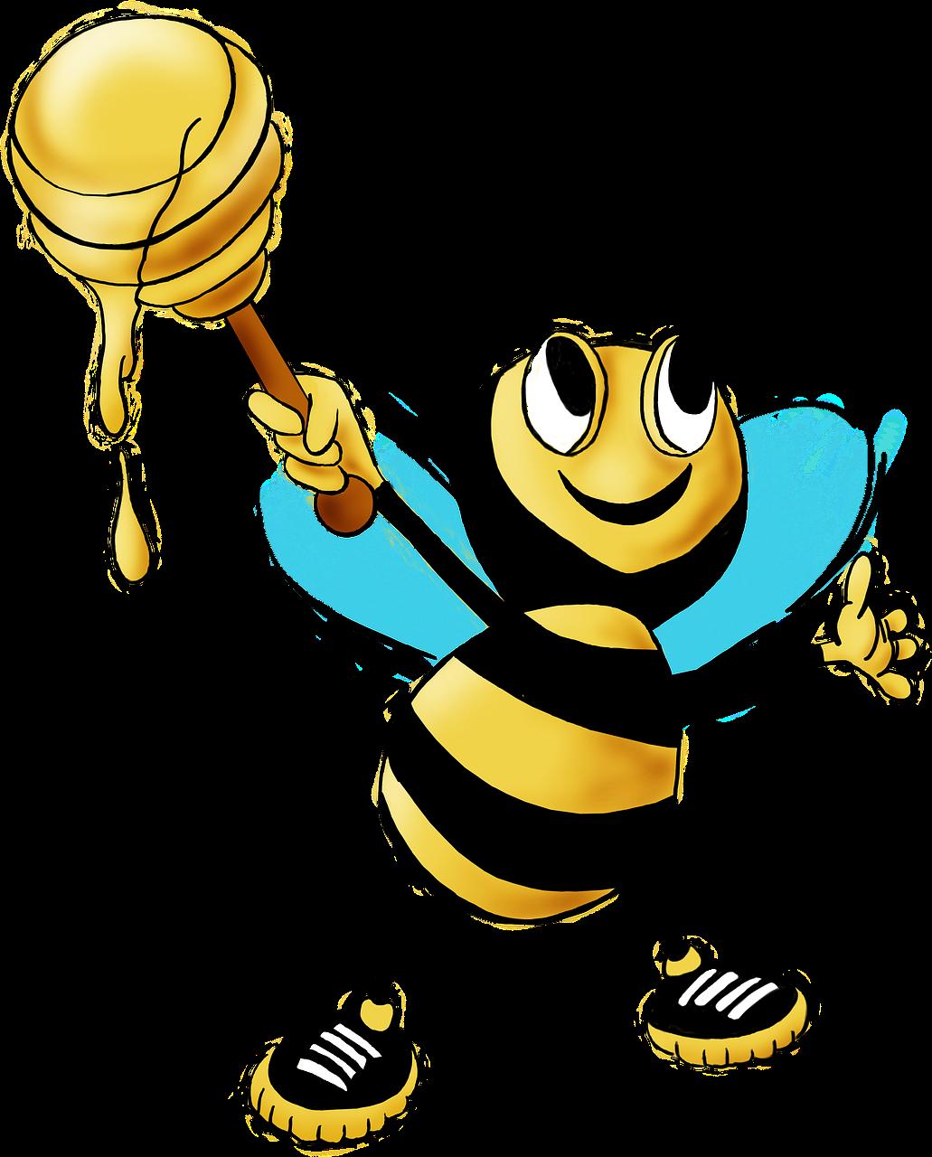 Пчела с медом картинка