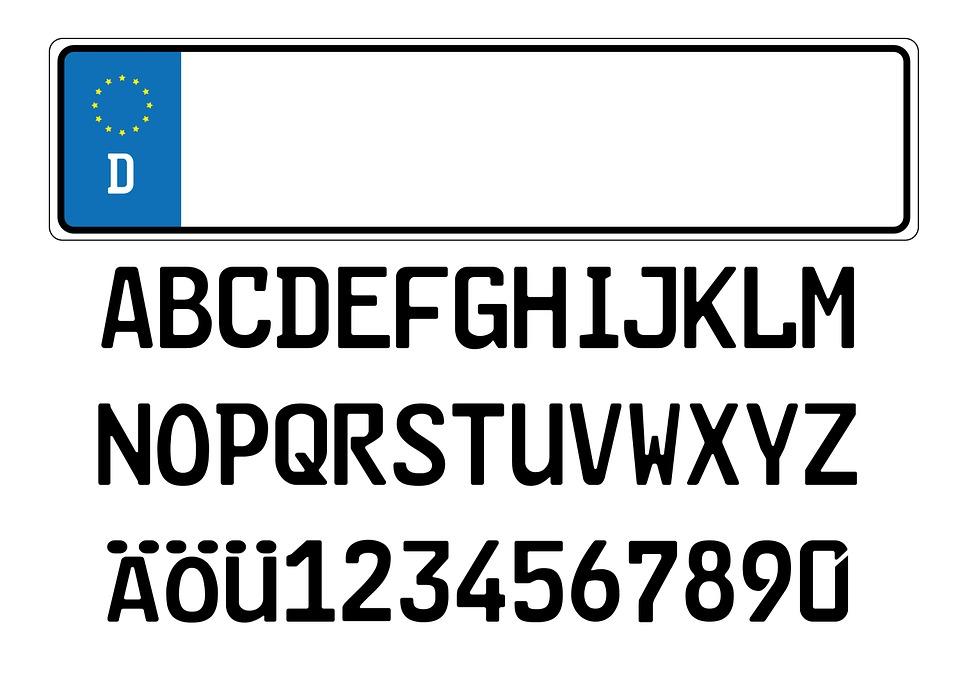 Kfz Schild Autokennzeichen · Kostenloses Bild auf Pixabay