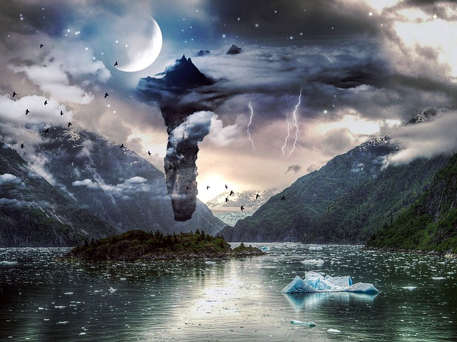 Free Photo Island Sky Mountains Lake Free Image On Pixabay 472351