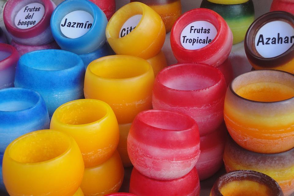 Velas, Aromas, Colores, Aromaterapia, Exposición