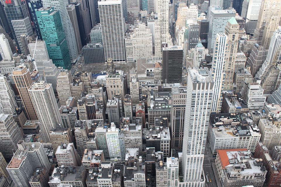 nueva york edificios de altura vista superior