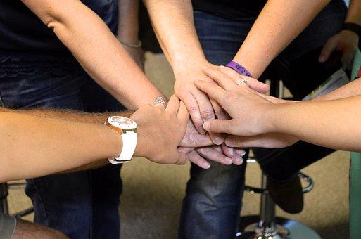 Team, Together, Hands, Joined, Prayer