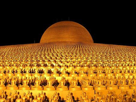 Dhammakaya Pagoda, Budha, Gold, Buddhism