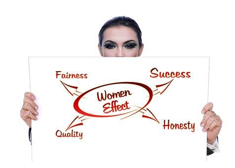 女性, ビジネスの世界, 頭, ミッション ステートメント, 市場経済