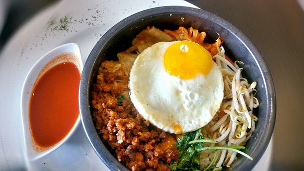Bibimbap Korean Cuisine Rice Egg Fried Egg