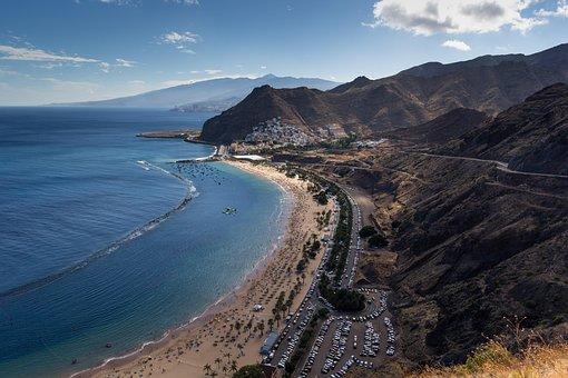 Qué ver qué hacer en Santa Cruz de Tenerife, panorámica Playa Las Teresitas, Santa Cruz de Tenerife
