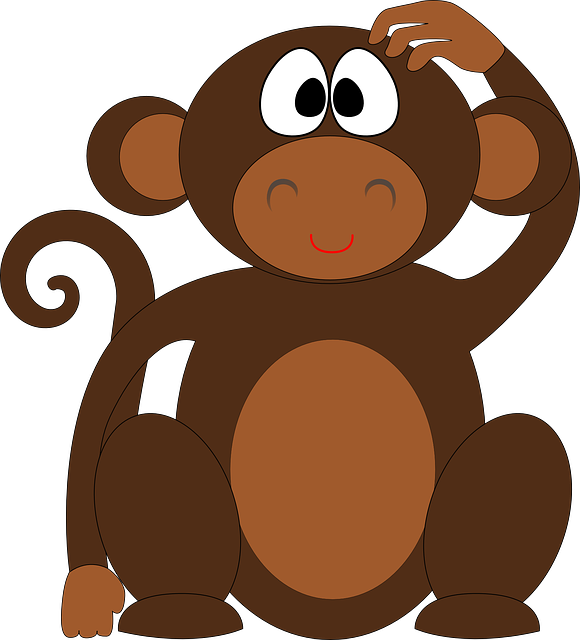 Image vectorielle gratuite singe chimpanz des animaux - 123rf image gratuite ...