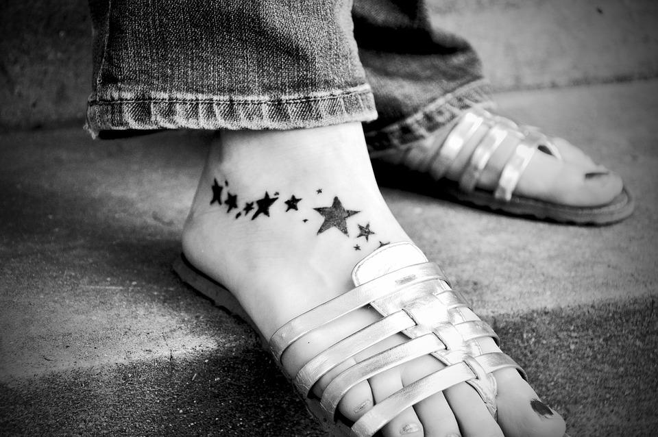 Tatouage Pied La Peau Noir Et Photo Gratuite Sur Pixabay