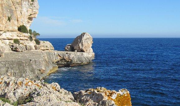 Perfektes Paddeln - auf dem Weg zur nächsten Bucht Mallorca, Cala Santanyi,