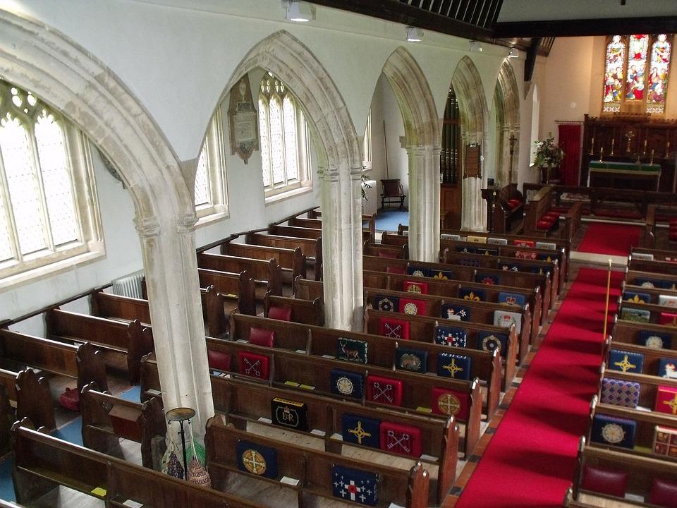 St Georgeu0027s Morebath Church Interior Arches Arch