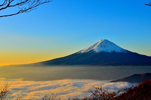 Mt Fuji, Volcano, Foggy, Mountain
