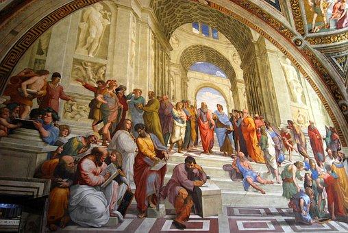 フレスコ画, バチカン市国, バチカン美術館, 哲学者, アリストテレス