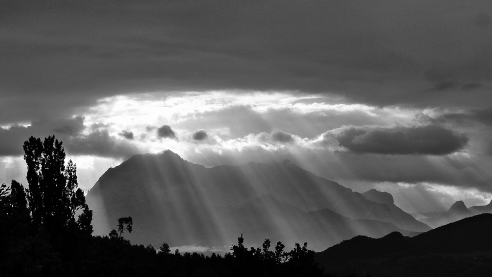 Suns rays rays landscapes nature mountain sky