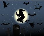 halloween, hexenbesen