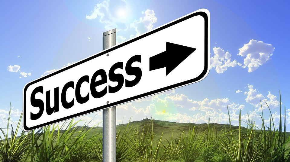 Success, Road Sign, Traffic Sign, Career, Rise