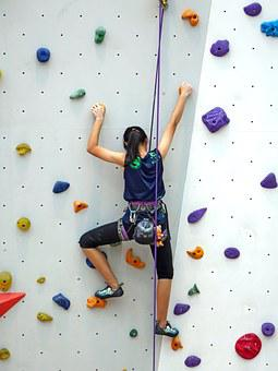 Climbing, Rope, Rappelling, Wall, Rock