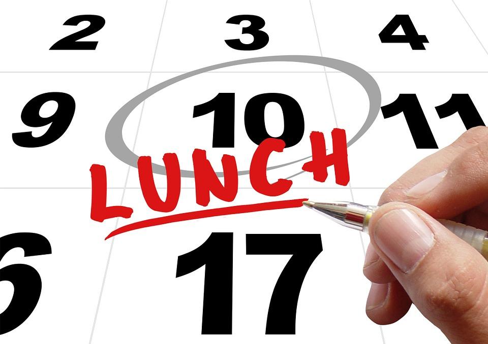 Time Eat Breakfast Lunch Hand Write Pen Note