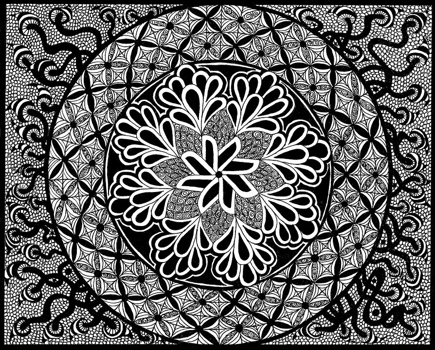 Blumenbilder Schwarz Weiß zentangle bilder schwarz weiß kostenloses bild auf pixabay