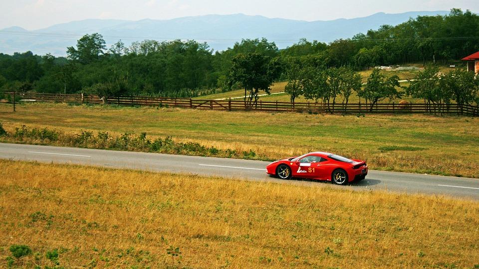 Photo gratuite ferrari course voiture paysage image - Photo voiture de course ferrari ...