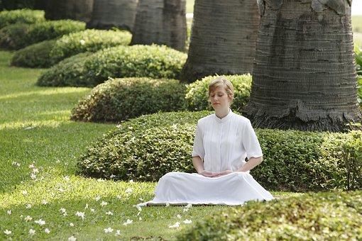 Buddhist, Meditation, Woman, Girl, Wat