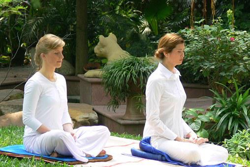Women, Meditation, Spa, Buddhist
