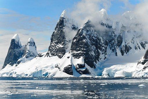 Hory, Sníh, Moře, Zamrzlý, Zima, Voda
