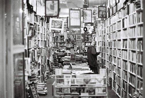 書店, 書籍, 古い本屋, ビンテージ, シェルフ, 本棚, 本ストア