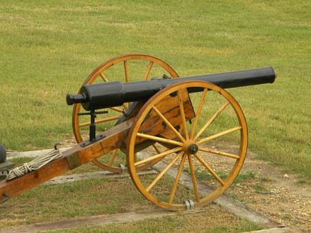 Cannon, Civil War, Reenactment, Military