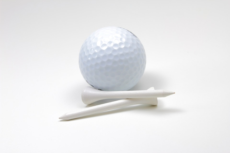 Golf, Ball, Tees, Isolated, Sports