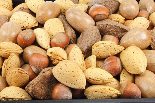 Almonds, Nuts, Hazelnuts, Mixed Nuts