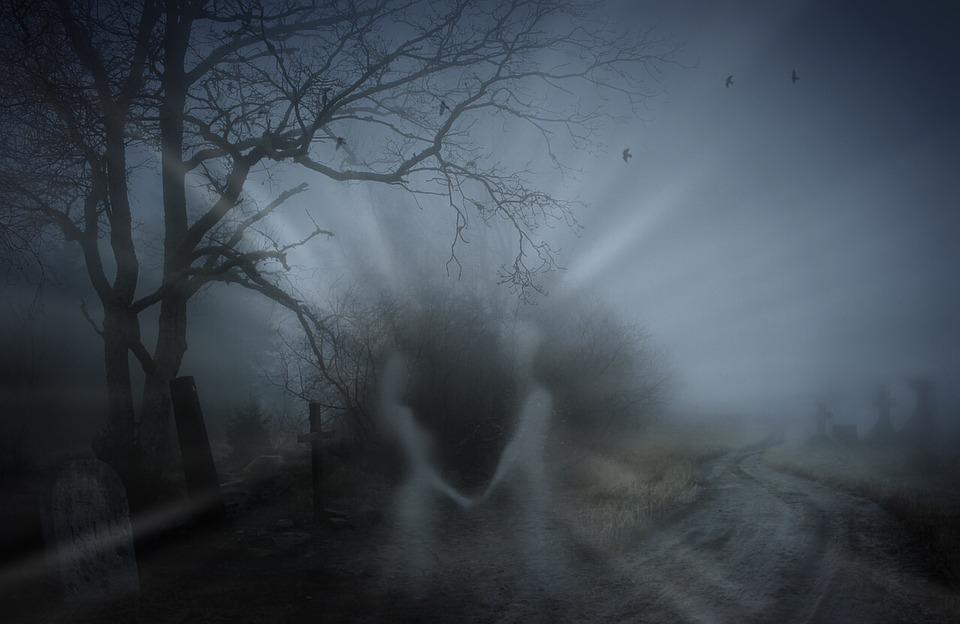 Жуткий, Смерть, Кладбище, Могилы, Душа, Человек