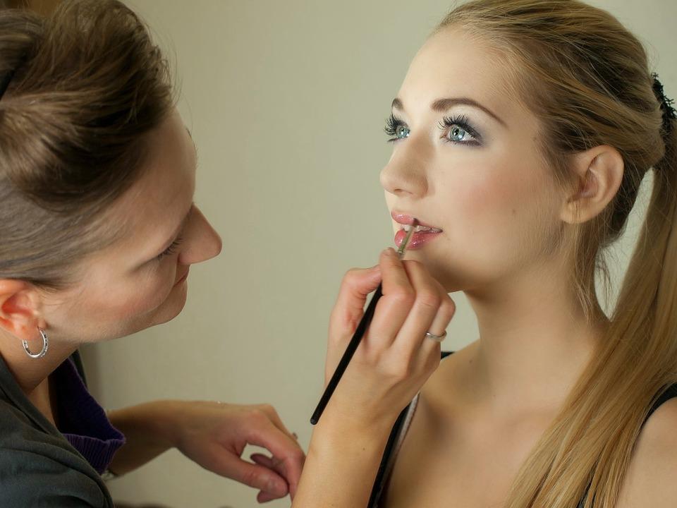 Makeup Artist, Trucco, Ritratto, Durante Il Trucco