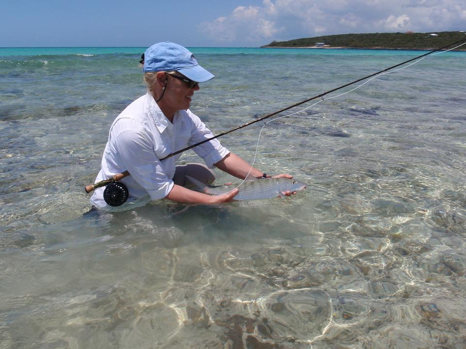 Bone Fish, Fly Fishing, Bahama, Bone-Fish, Woman