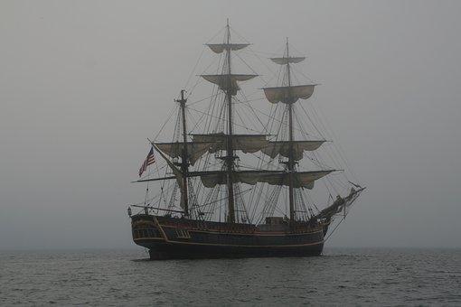Schooner, Vintage, Sailing, Sail, Ship