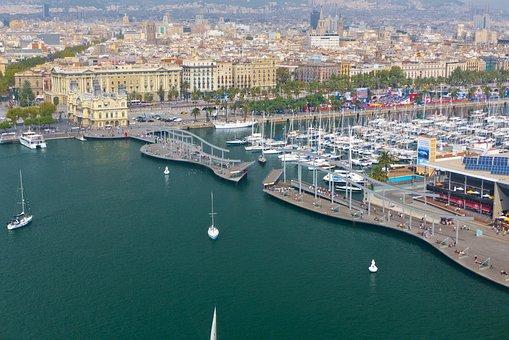 Port Vell y el Paseo Marítimo de Barcelona