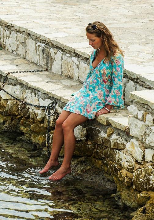 girl feet water free photo on pixabay