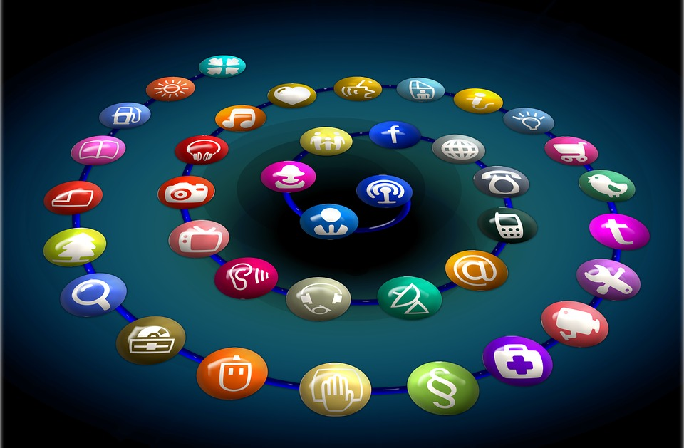 Social Network, Logo, Icons, Structure, Spiral